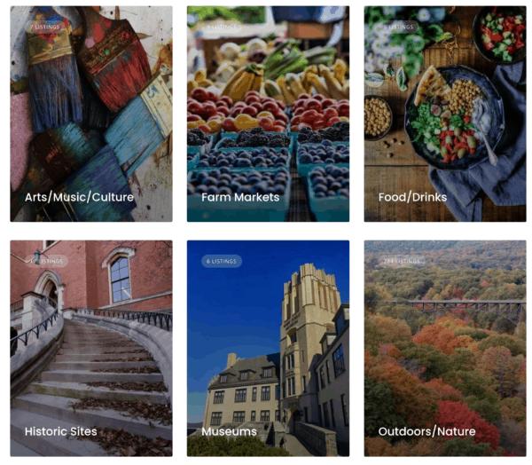 Hudson Valley Online Directory Categories