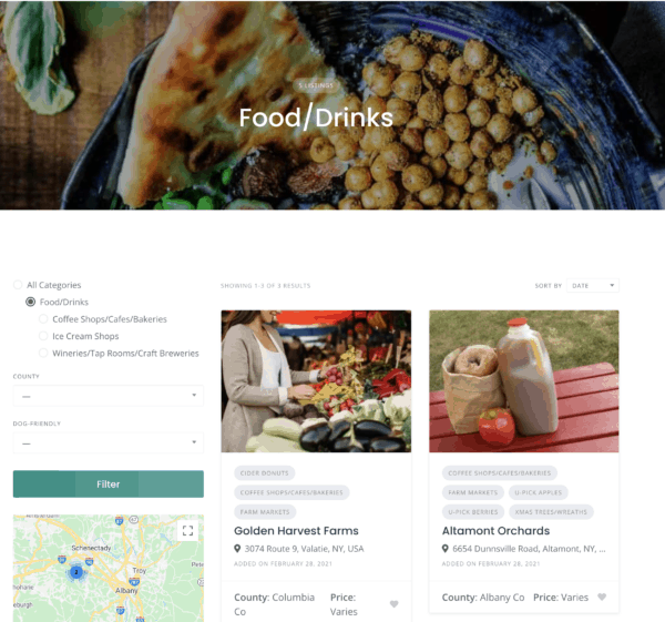 Hudson Valley Online Directory Food/Drink Page